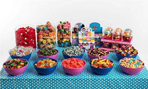 Candybar tamaño grande La Asturiana - Selección de golosinas para Mesas Dulces o Candybar en eventos grandes (15 clases de golosinas distintas)
