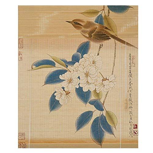 Jianfei jaloezieën gemaakt van bamboe, als binnendecoratie, filtering van het licht, entree, 23 maten, 3 kleuren, personaliseerbaar 140X180cm B