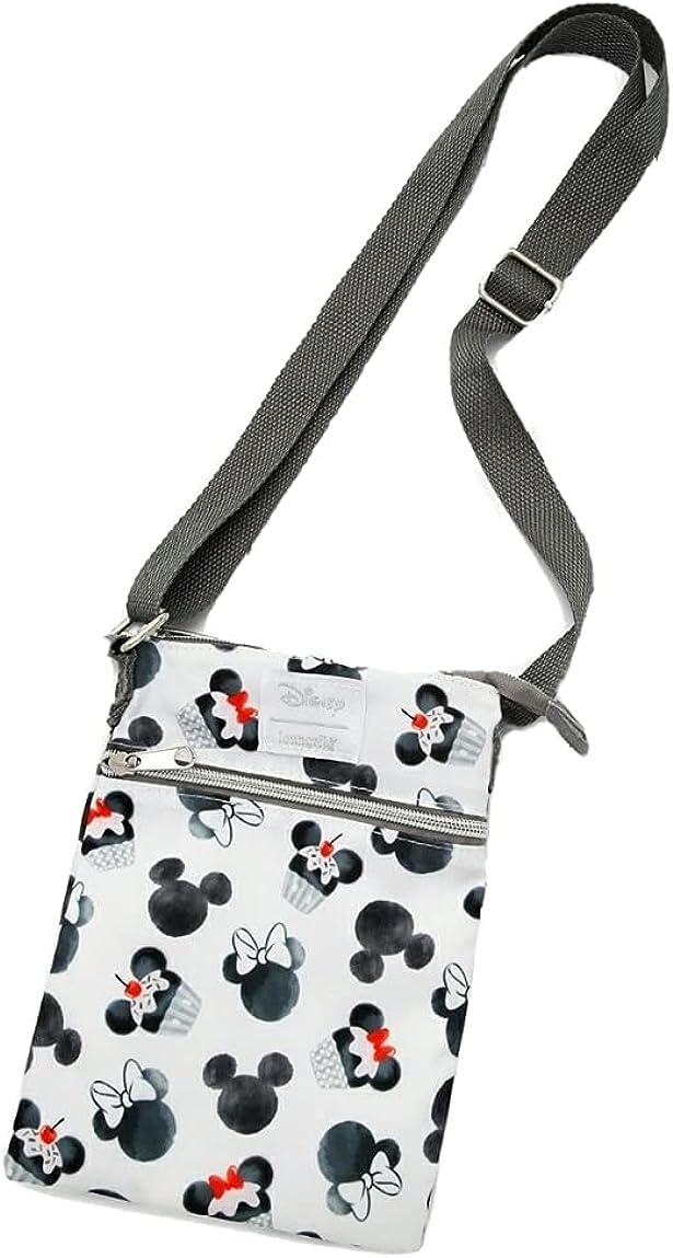 Loungefly Disney Mickey Mouse Minnie Mouse Cupcake Passport Crossbody Bag