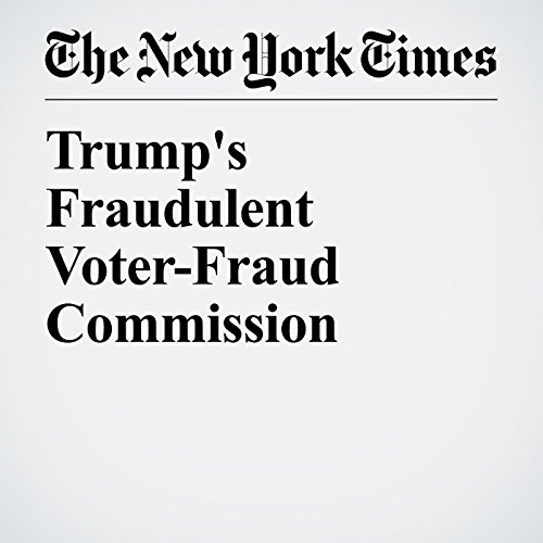 Trump's Fraudulent Voter-Fraud Commission copertina