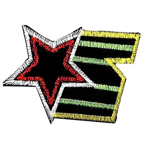 tumundo Aufbügler Bügel-Flicken Aufnäher Bügel-Bild Patches Buchstaben Totenkopf Totenschädel Pirat Blume Rose Applikation, Variante:Variante 25