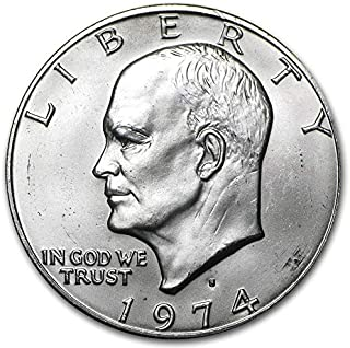 1974 S BU Eisenhower Silver Dollar (Ike) $1 Brilliant Uncirculated US Mint