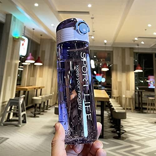 YYSD Botella de Agua para Deportes de 780 Ml, Botella de Agua para Exteriores con Pajita, Taza de Agua portátil de plástico, Utensilios para Acampar, Botella para Bicicleta, Herramientas de Cocina