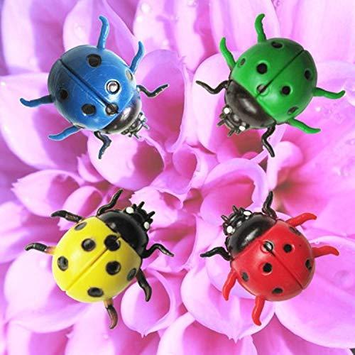 DSSJ Simulación 3D Mariquita Pegatinas de Pared Sala de Estar Dormitorio Pared Autoadhesivo jardinería decoración de Insectos Pegatinas Creativas para Nevera