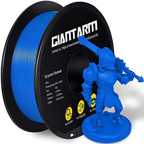 PETG Filament,Filamento de impresora 3D,GIANTARM PETG filamento 1.75mm, Precisión dimensional +/- 0.03mm, 1kg,Azul