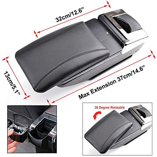 8X-SPEED for Renault Kaptur Captur QM3 2014-2018 Car Armrest Accessories Centre Console Storage Box Arm Rest Black