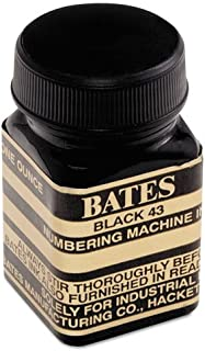 Refill Ink for Numbering Machines, 1 oz Bottle, Black, Sold as 1 Each