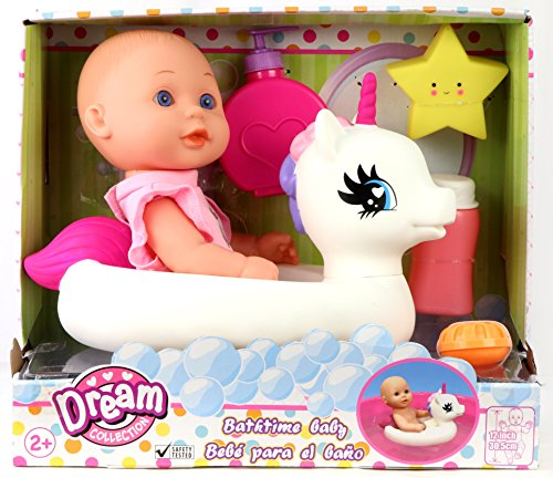 Gi-Go Bath Time 12' Baby Doll with Unicorn Floatie