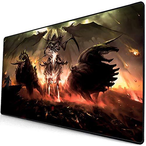 Große Gaming Mauspad Anti-Slip Natürliche Gummi Maus Matte Tastatur Pad Schreibtisch Matte Für Laptop Computer Gaming Mauspad Anime Mauspad Mat Höllen-Dämon-3