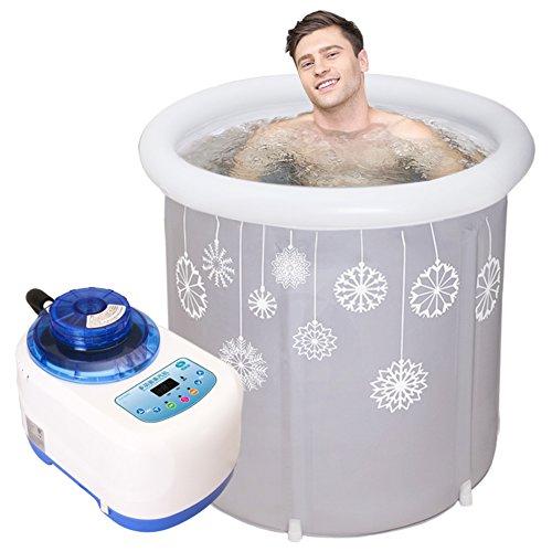 KLWJ Opblaasbare douchebak, voor volwassenen, draagbare opblaasbare douchebak, elektrische luchtpomp comfortabel, drenkend, badkamer, home-spa