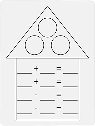 discount Dry Erase Board Math Fact Family House Addition and wholesale Subtraction Practice 9 x new arrival 12 Inch for School Classroom or Homeschool online sale