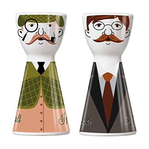 Ritzenhoff Mr. Salt & Mrs. Pepper Salz-und Pfefferstreuer, Porzellan, Mehrfarbig, 3.6 cm