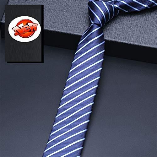 Corbatas Traje de negocios para hombre Corbata estrecha Corbata de lazo de la boda del novio de la mano de los 6CM Caja de regalo de lujo ligera Regalo del día del padre ( Color : L , Size : 1
