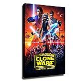 YHML Póster de Star Wars La batalla de los clones para decoración del hogar, lienzo de impresión HD con marco de 20 x 30 cm