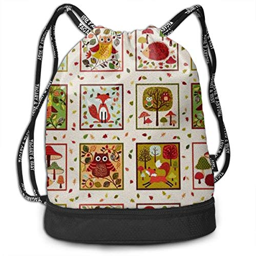 OIVLA Cord Bag Sackpack Animal Picture Drawstring Bag Rucksack Shoulder Bags Travel Sport Gym Bag Print - Yoga...