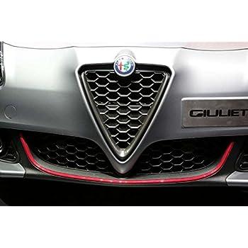 Profilo Argento Adesivo per Dam Paraurti Anteriore Alfa Giulietta 11 mm x 1,15 m