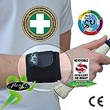 Puissance et la force pour les poignets « MATIÈRE RÉVOLUTIONNAIRE » SANS NEOPRENE/SANS LATEX Thermorégulatrice et hypoallergénique, aucune irritation de la peau. Unisex, Une taille.
