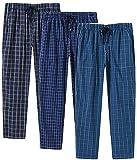 MoFiz Hombre Pantalones de Pijama Algodón Salón a Cuadros Pijama Larga Casual Patalones acon Bolsill...