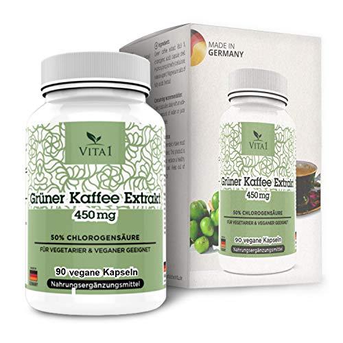 Grüner Kaffee .Hochwertiges 90 Kapseln 10:1 Extrakt.Aus grünen jungen Kaffeebohnen.Durch externe Labore geprüft