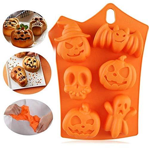 MZY1188 Molde de Silicona para Pastel de Halloween: Accesorios de Halloween Hogar Cocina Forma de Calabaza Pastel Moldes de Silicona Utensilios de Cocina Utensilios para Hornear Moldes