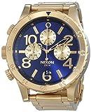 Nixon 48-20 Chrono - Reloj de Cuarzo para Hombre, Correa de Acero Inoxidable Color Dorado