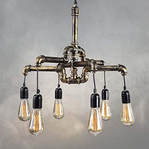 Retro Creative, doppelköpfiges, hochtransparentes, schmiedeeisernes Glas, Magic Bean Gold, Kugel-Kronleuchter, Schmiedeeisenbeschichtung, verstellbarer Hängedraht, 5 W, dreifarbiges LED-Licht, nordisc