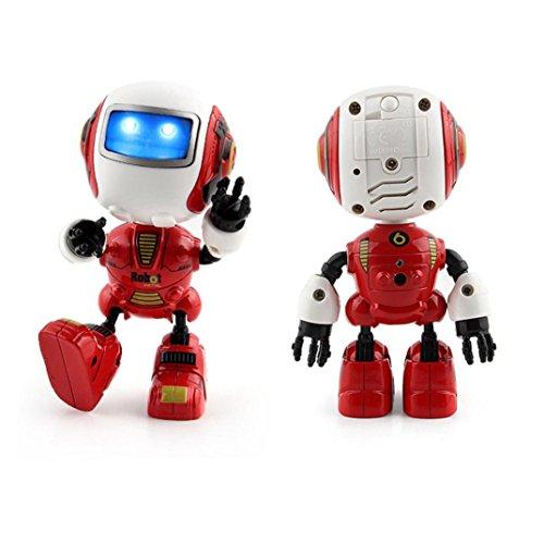 regalo de Navidad juguetes gatos juguetes para perros juguetes niños robot de juguete de música multifunción, Tacto sensible Sannysis Robótico Inteligente Juguete Educativo (Rojo)
