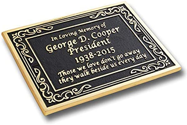 Custom Brass Memorial Plaque To Commemorate The Memory Of Your Loved One Hand Made In England