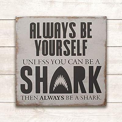 wonbye Wooden Signs with Sayings, Shark Decor, Shark Wood Sign, Boys Room Wall Art, Boys Room Decor, Shark Wall Art, Shark Wall Decor, Baby Boys Room, Baby Boy Nursery Decor