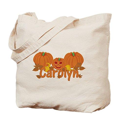 CafePress Halloween Kürbis Carolyn Tragetasche, canvas, khaki, M