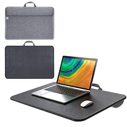Elekin Laptoptisch mit Kissen für Bett, Multifunktion Laptopunterlage Tragbarer Laptop Ständer Passt bis zu max 17 Zoll Laptops Betttablett Notebooktisch für Couch/Sofa/Büro/Zeichnung
