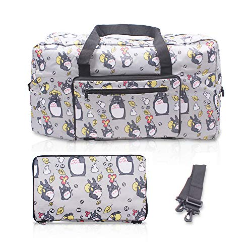 Finex My Neighbor Totoro Foldable Easy-to-carry Travel Bag for airplanes with adjustable strap - Gray