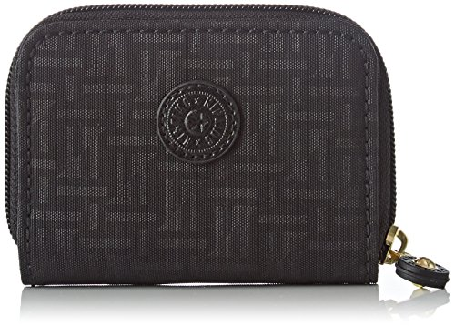 Kipling Damen Tops Geldbörse, Schwarz (Black Pylon Emb), 7.5x10x2.5 cm