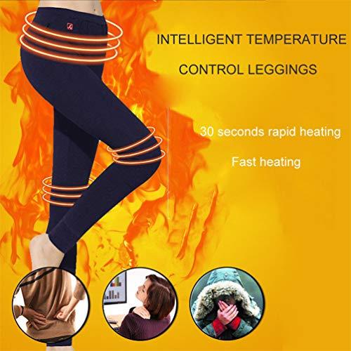 Pantalones Calientes con calefacción, Chaleco cálido, Chaleco Ligero y cálido para la Carga del Cuerpo, Chaleco térmico eléctrico Lavable Chaqueta con Inserto USB para Esquiar en Invierno,Black-L