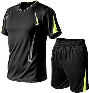 طقم تي شيرتات رياضية كاجوال رجالي من Lavnis بكم قصير للركض والرياضات الرياضية