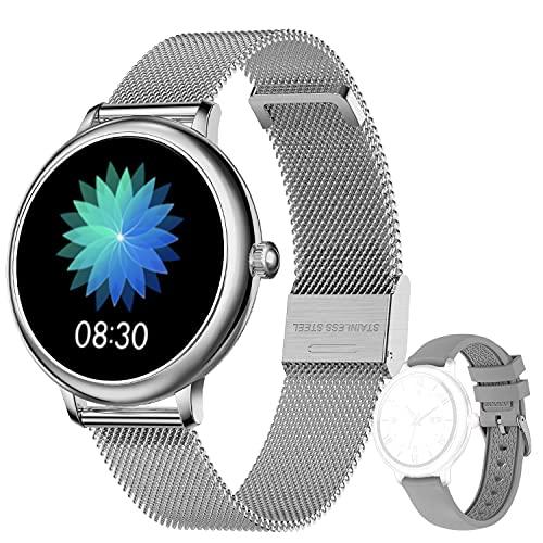 LIEBIG Smartwatch Mujer,Relojes Inteligentes mujer IP67 con Ciclo menstrual femenino Pulsómetros Podómetro Cronómetros Monitor de Sueño Pulsera Actividad Inteligente para Android iOS