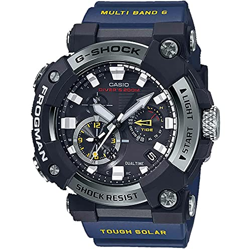 Casio GWFA1000-1A2 Frogman Men's Watch Blue 56.7mm Carbon/Stainless...