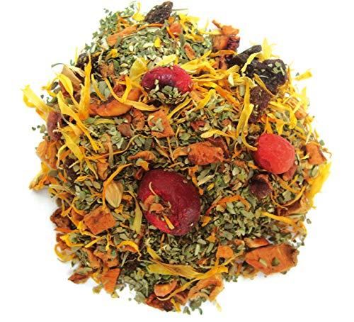 Olijfblad perzik cranberry losse thee, biologisch, 100 gram