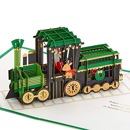 Hallmark Signature Paper Wonder Pop Up Christmas Card (Christmas Train) (1299XXH3324)