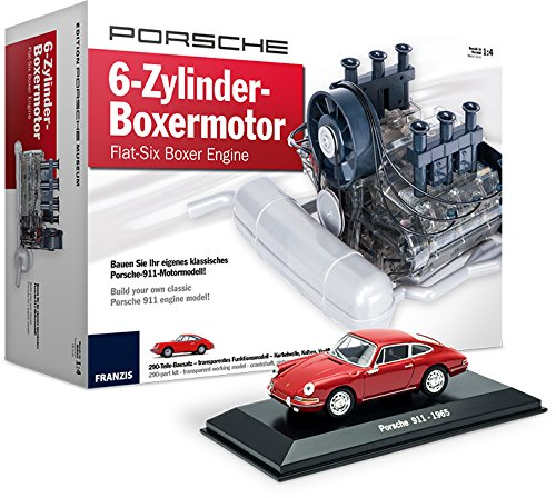 Porsche 6-Zylinder-Boxermotor Sonderedition mit Original Porsche 911 Modellauto | Flat-Six Boxer Engine Special Edition incl. 911 Plastic Model Car