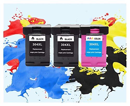Cartucho de tinta 304XL Nueva versión para Hp304 para Hp 304 XL Deskjet Envy 2620 2630 2632 5030 5020 5032 3720 3730 5010 Impresora (Color: 2Negro 1Color)