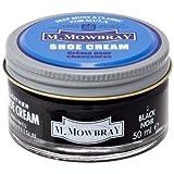 [M.モゥブレィ] シューケア 靴磨き 栄養 保革 補色 ツヤ出しクリーム シュークリームジャー ブラック 50ml