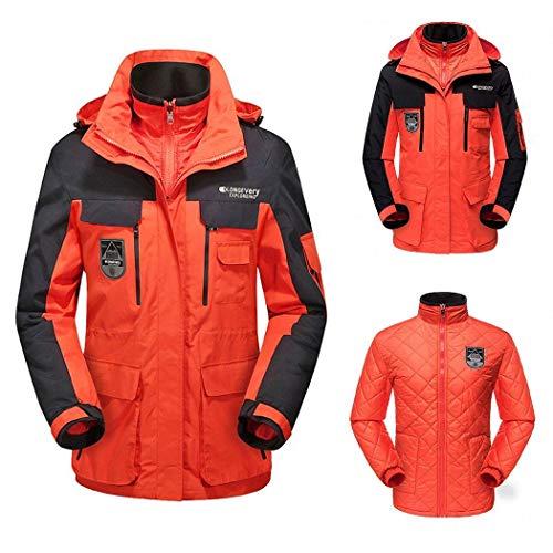 neuda 3 in 1 Jacke Damen Funktionsjacke Winter Outdoor Doppeljacke Wasserdicht Atmungsaktiv Wanderjacke Softshelljacke