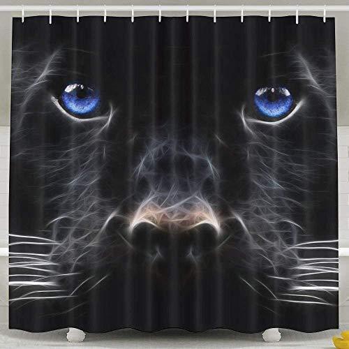 N/A Panter blauwe ogen mode douchegordijn luxe waterdichte bad gordijn 60 x 72inch