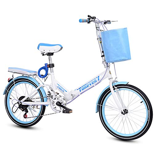 LYTLD 20-Zoll-Faltrad Student Faltrad, Unisex Falt-Fahrrad,Klapprad, Klappfahrrad, leicht und robust, 6 Gangschaltung Freilauf Kettenschaltung
