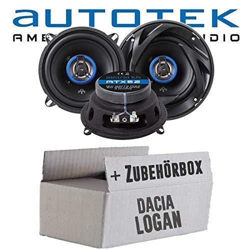 Lautsprecher Boxen Autotek ATX-52 | 2-Wege 13cm Koax Lautsprecher 165mm Auto Einbauzubehör - Einbauset für Dacia Logan + MCV - JUST SOUND best choice for caraudio