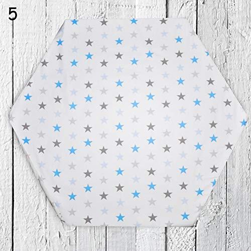 Spannbettlaken für 6-eck Laufgitter Matratze 120x105cm Baby Kinder Laufstall Laken Neu Baumwolle (D5)