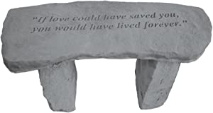 Kay Berry- Inc. 37320 If Love Could Have Saved You - Angel Memorial Bench - 29 Inches x 12 Inches x 14.5 Inches