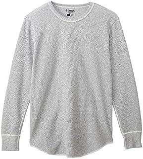 [ヘインズ] ワッフルロングスリーブtシャツ クルーネック サーマル ワッフル生地 カラーズ HM4-Q101