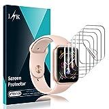 L K 6-Unidades Protector de Pantalla para Apple Watch 44mm Series 4/5 y 42mm Series 1/2/3, HD Película de TPU Flexible [Sin Burbujas] [Funda Compatible] [Sin Bordes elevados] [Instalación Fácil]